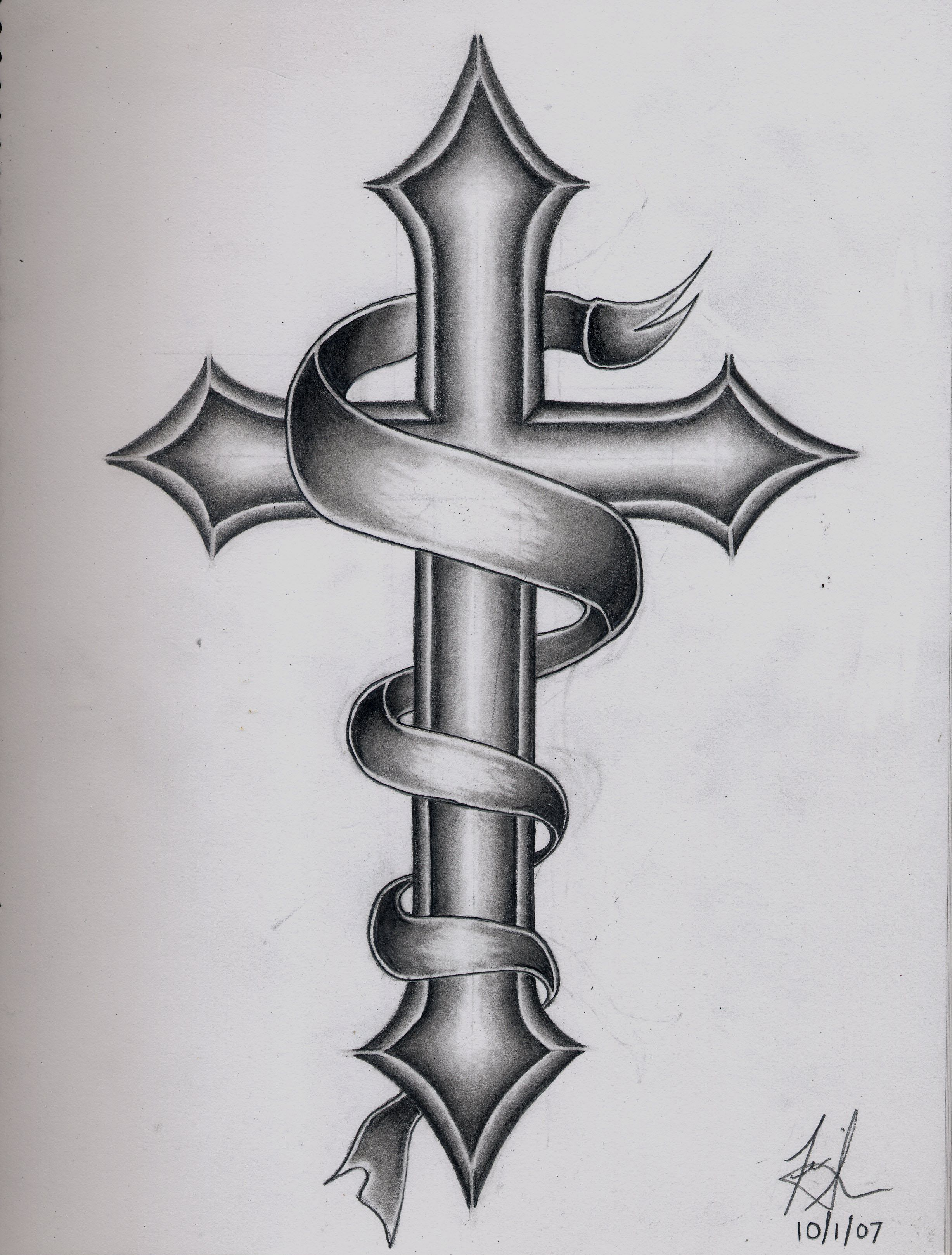 Mens cross tattoo with roses - Images For Catholic Cross Tattoo Designs For Men