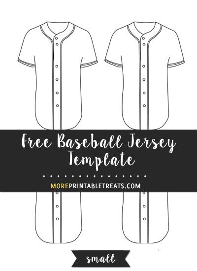 Free Baseball Jersey Template Small Shapes And Templates