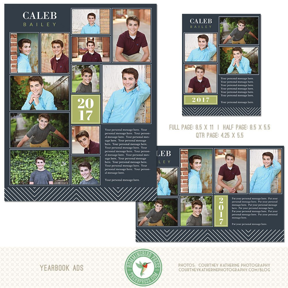 Graduation Yearbook Ad Templates, Senior Ad, High School, Middle ...