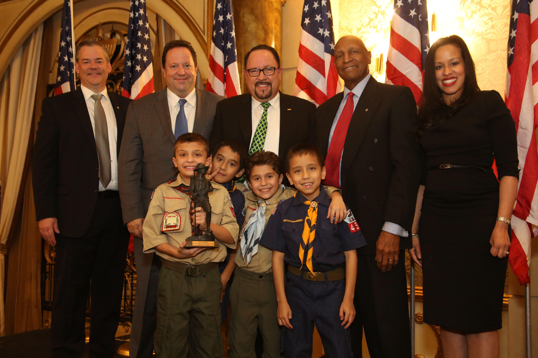 Thank you to the Boy Scouts of America! Goya President Bob