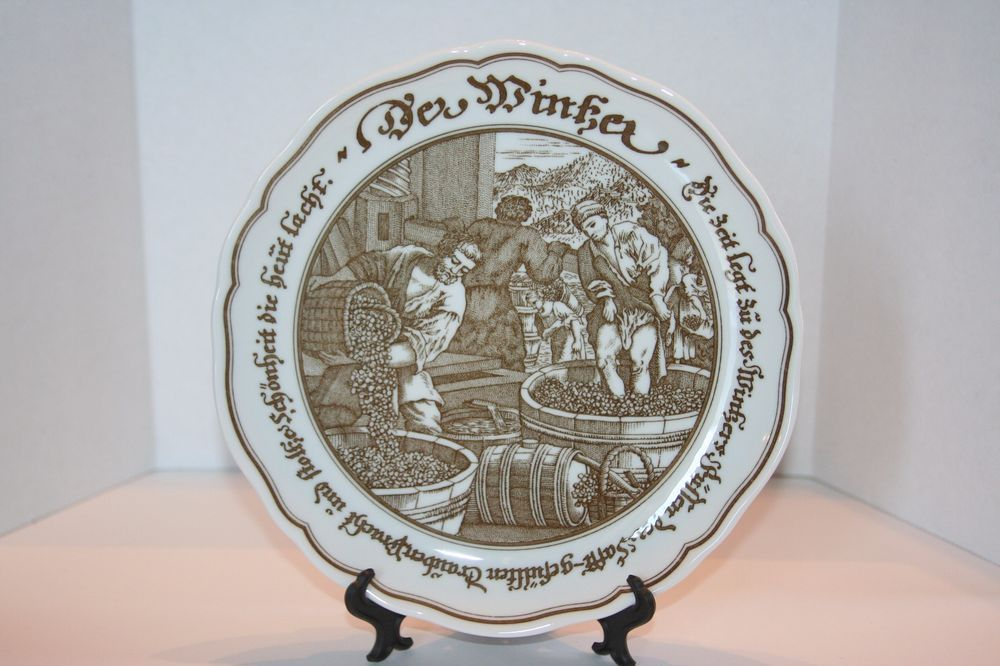 Vintage Hutschenreuther Exclusive for Pieroth \ The Wine Maker\  Collectible Plate in Collectibles Decorative & Vintage Hutschenreuther Exclusive for Pieroth \