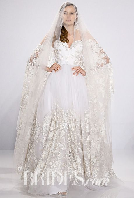 Brides Strapless Lace Ball Gown Siriano For Kleinfeld