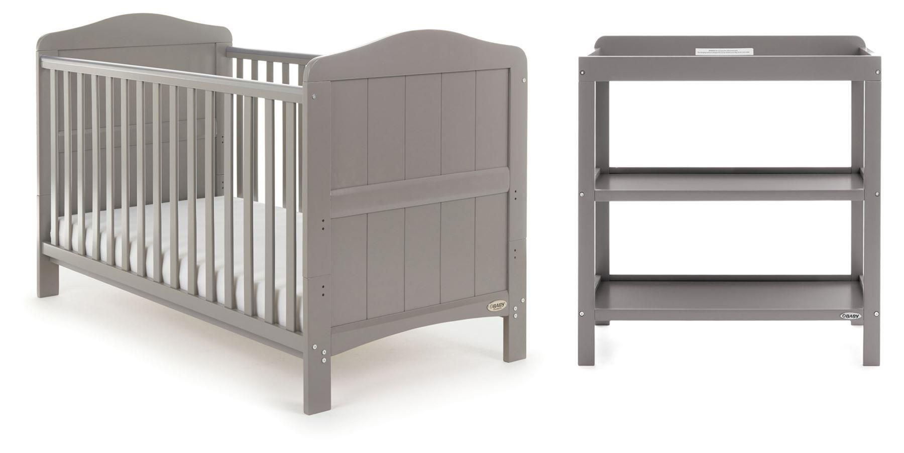 Obaby Whitby 2 Piece Room Set  – Taupe Grey