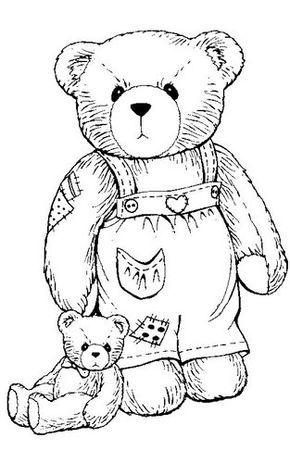 Riscos de ursinhos fofos para pintar nas fraldinhas   joao lucas ...