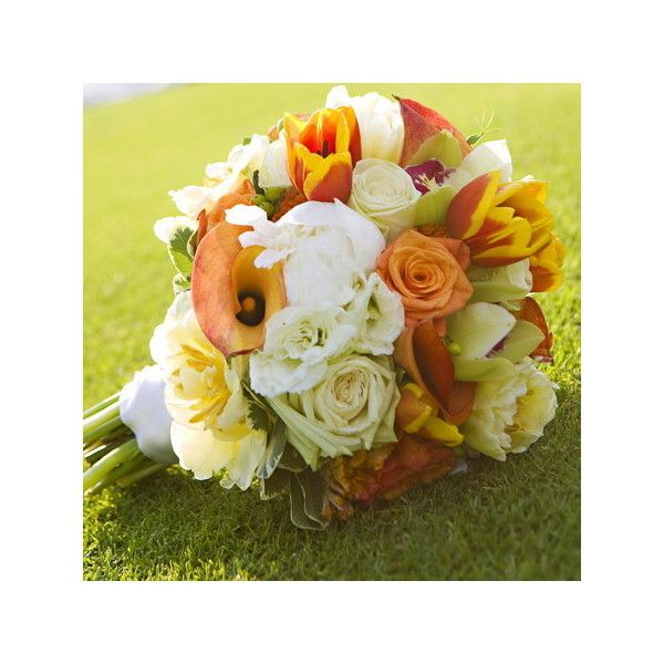 Wedding, Flowers, Reception, White, Ceremony, Orange, Bridesmaids,... ❤ liked on Polyvore featuring flowers, wedding and wedding flowers