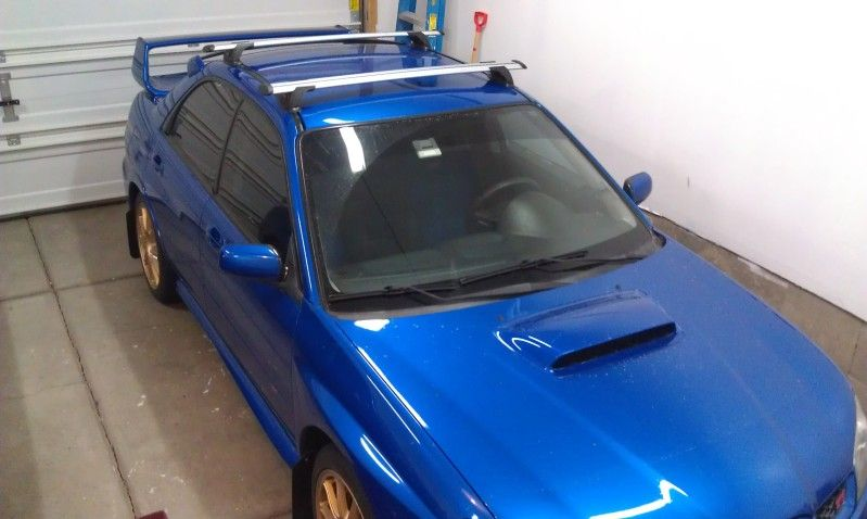 Prorack Whispbar Roof Rack Installed On 06 Sti Using Rain Gutter Brackets Subaru Impreza Wrx Sti Forums Iwsti Com Roof Rack Wrx Subaru Impreza