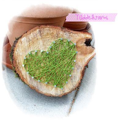 Wollherz, Holz, Idee für den Garten DIY Ideen Pinterest - ideen aus holz fur den garten