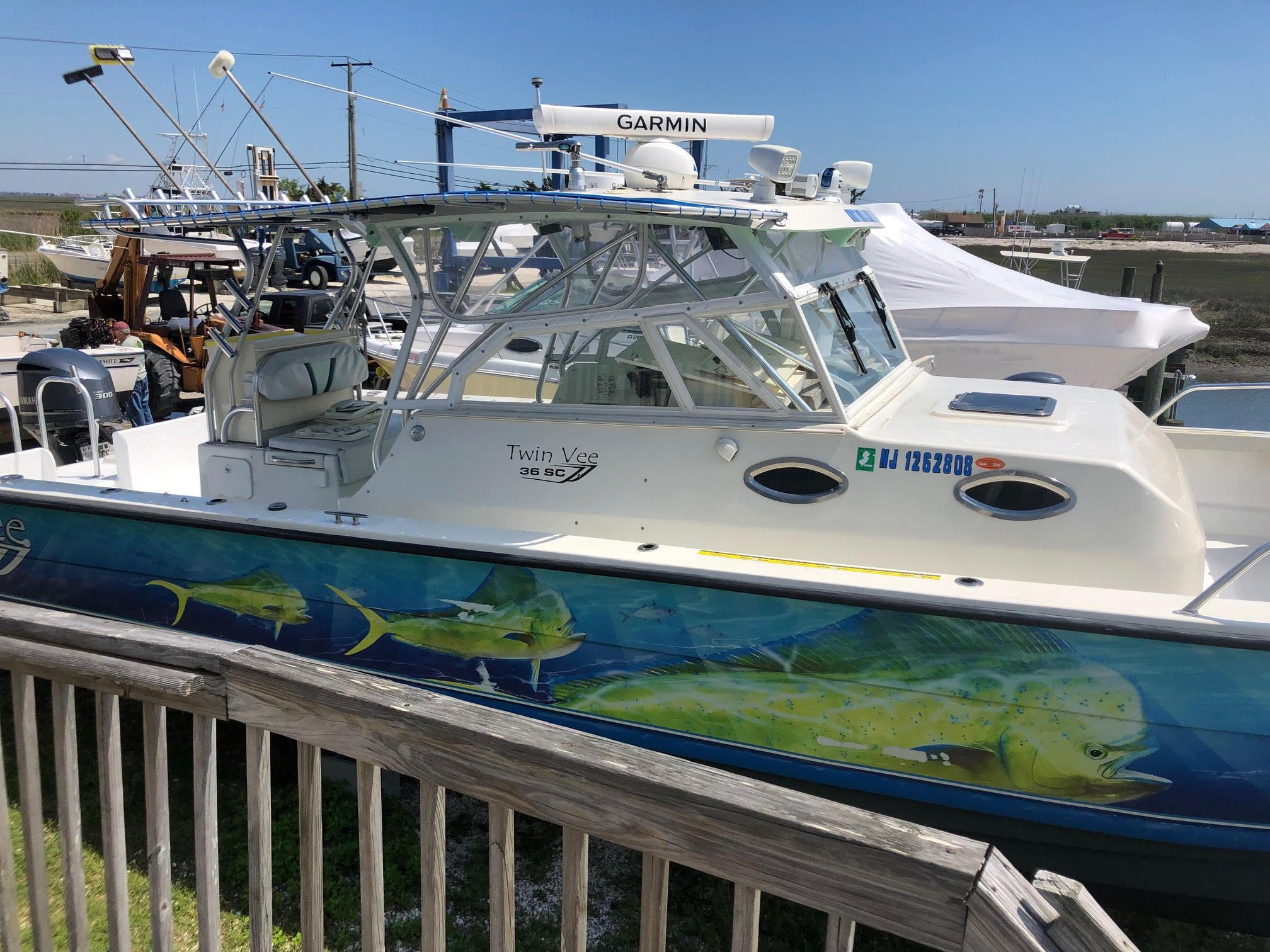 Deck boat, Spray on bedliner