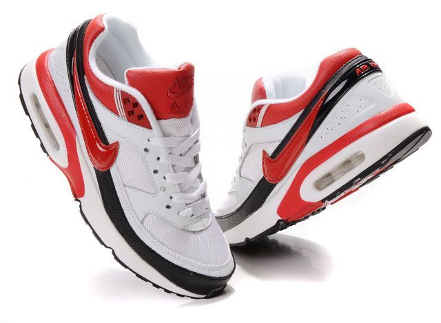 new styles 76757 6d731 Nike Air Max Bw White Red Black Upper And Sole Womens Shoes-103