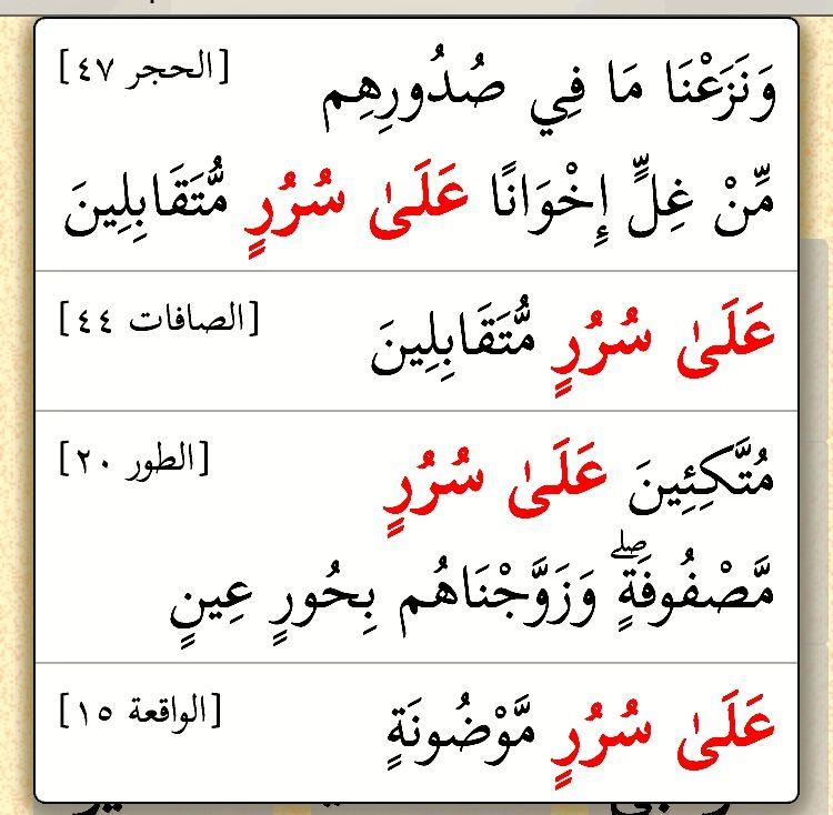 على سرر أربع مرات في القرآن Math Quran Calligraphy
