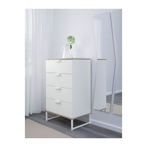 trysil komoda 4ladice bijela svijetlosiva drawers bedrooms and ikea hack. Black Bedroom Furniture Sets. Home Design Ideas