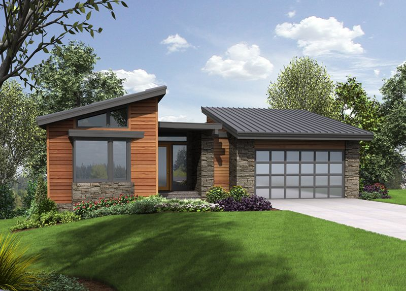 Shingle House Plan Front of Home - Shay Rustic Modern ...