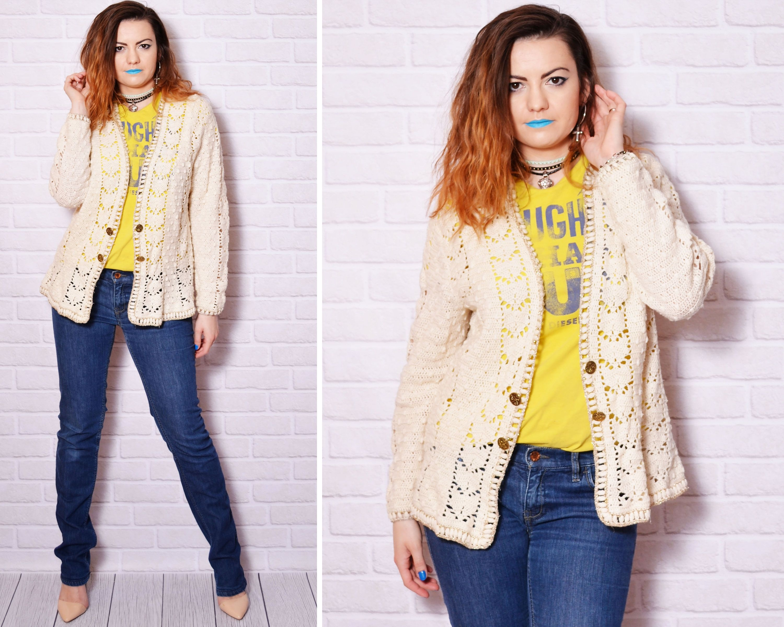 90s beige cardigan oversize sweater cowgirl country clothing ...