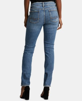 39b4a298eee Silver Jeans Co. Elyse Ripped Straight-Leg Jeans - Blue 28S