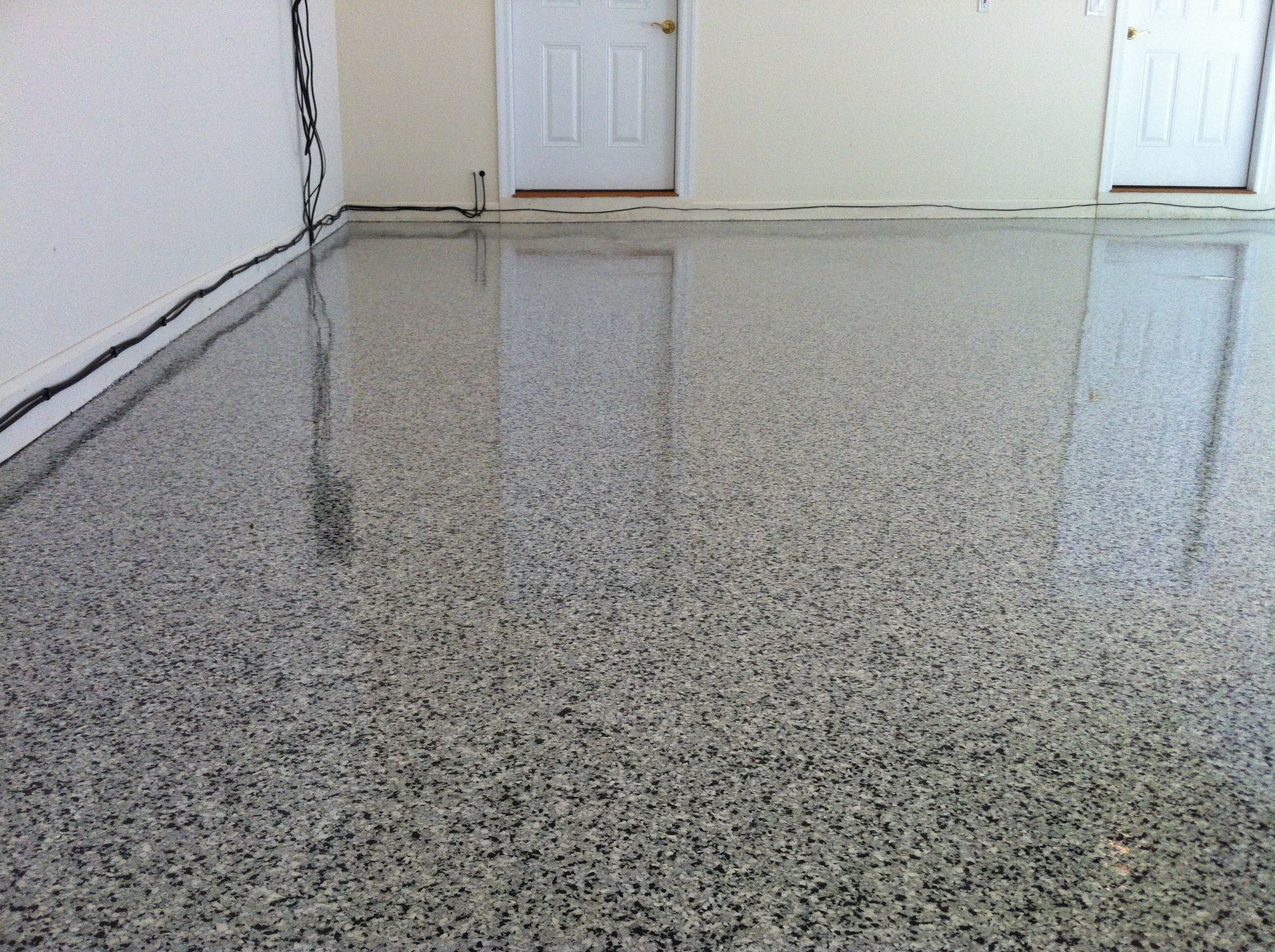 Decorative Concrete Overlay Epoxy Garage Floor Lake Ozark Mo