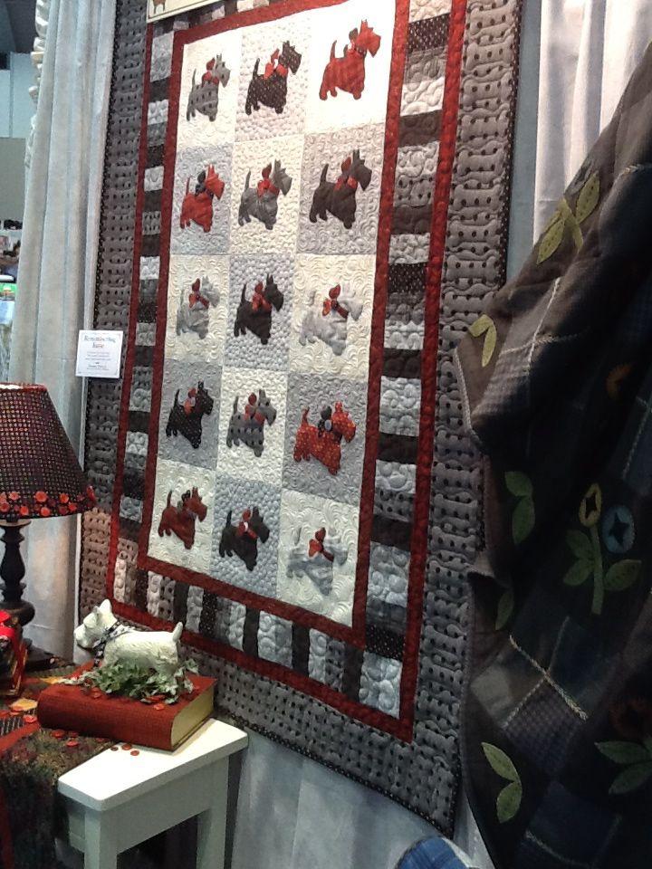 Scotty Dog Quilt by Debbie Beaves | Dog quilts, Dog and Studio : scottie quilt pattern - Adamdwight.com