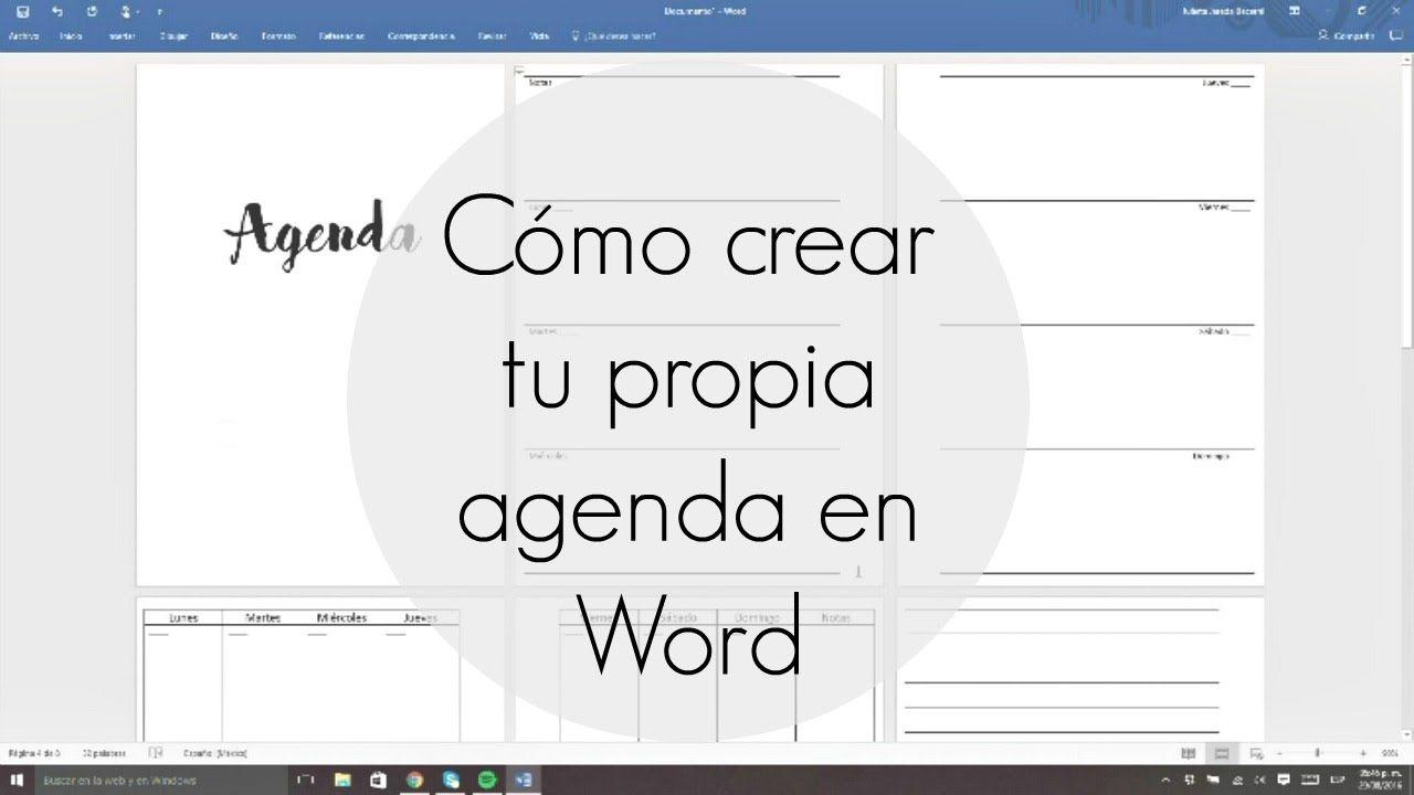 C mo crear tu propia agenda en Word Julieta Jareda – Agenda Word
