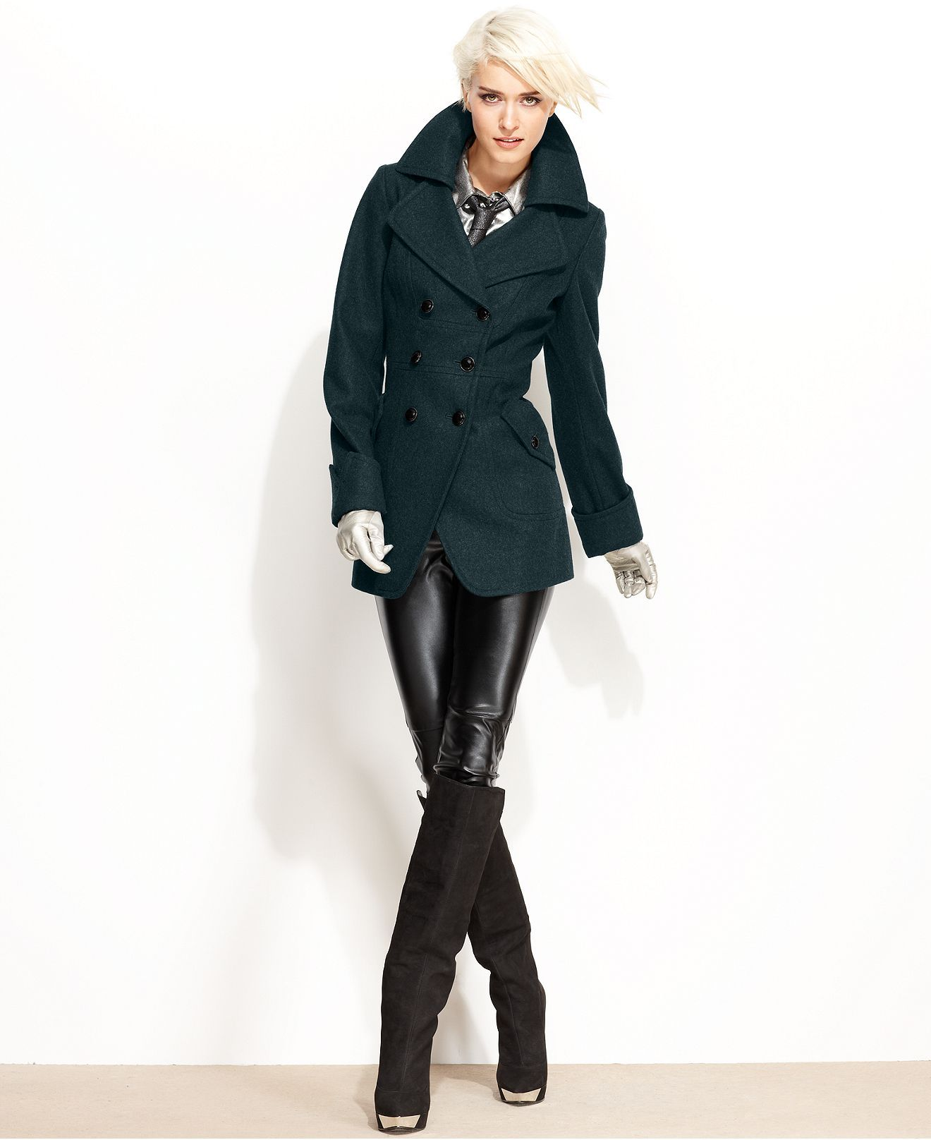 Guess Coat Wool Blend Cutaway Pea Coat Womens Coats Macy S Coats For Women Peacoat Junior Coats [ 1616 x 1320 Pixel ]