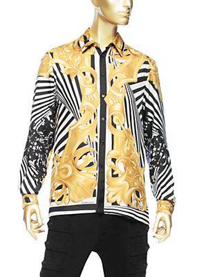 9cacd26e Versace - Digital Barocco Print Shirt | Versace | Versace Men ...