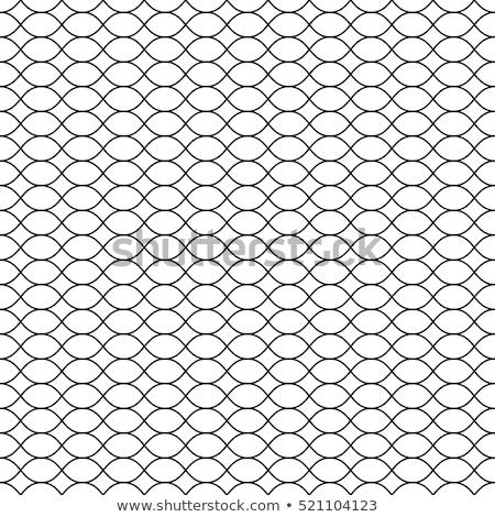 Vector Seamless Pattern Black Thin Wavy Lines On White Backdrop Illustration Of Mesh Fishnet Seamless Patterns Pattern Seamless