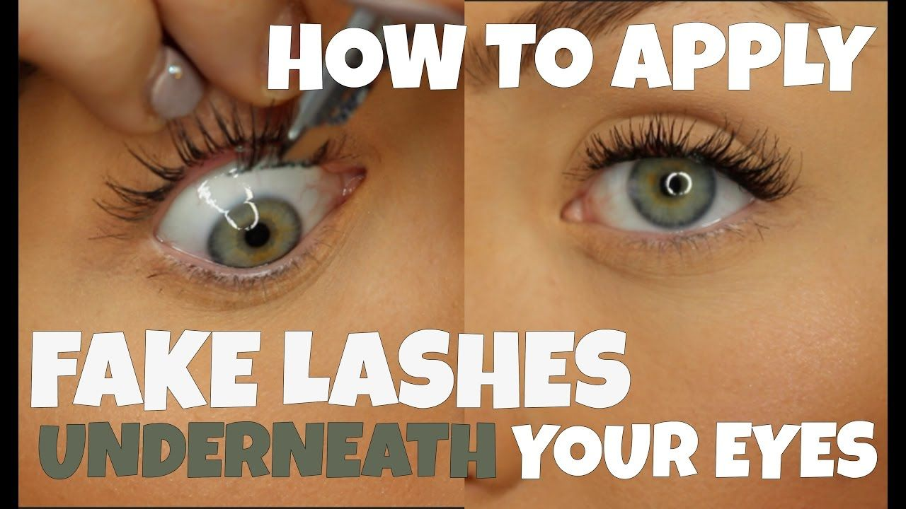 How To Apply Fake Lashes Underneath Your Eye For Begginers Alicia Moffet Fake Eyelashes Fake Lashes Fake Eyelashes Applying