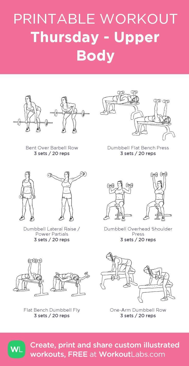 Donnerstag - Oberkörper: mein visuelles Workout, das bei WorkoutLabs.com erstellt wurde • Klicken Sie auf ... #donnerstag #erstellt #oberkorper #visuelles #workout #workoutlabs #wurde, #exercisesforupperback
