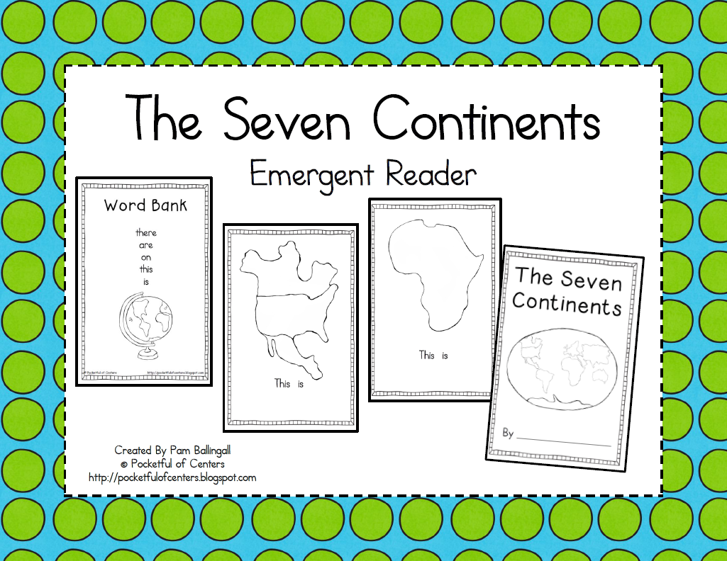 The Seven Continents Book Emergent Reader