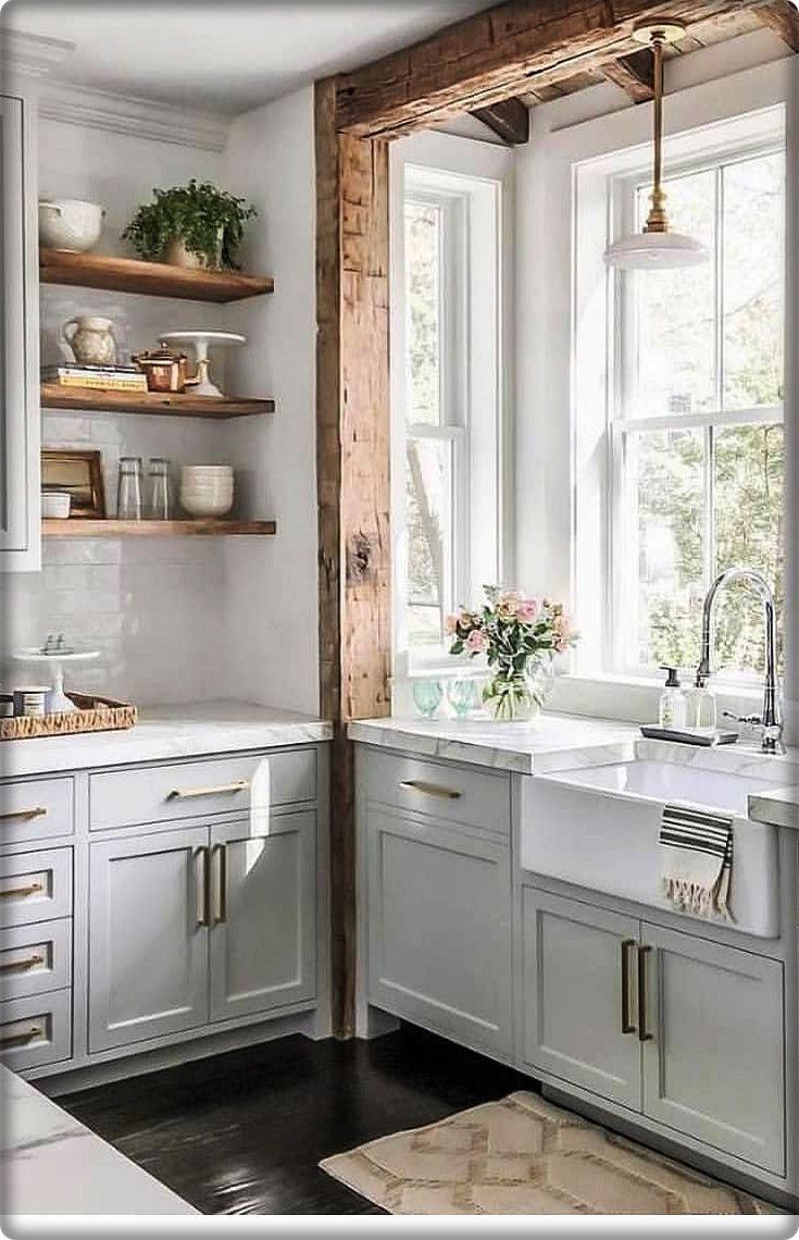 Nouveaux et anciens styles de rénovation de cuisine modernes. Design de cuisine de luxe pour ... #smallkitchenorganization