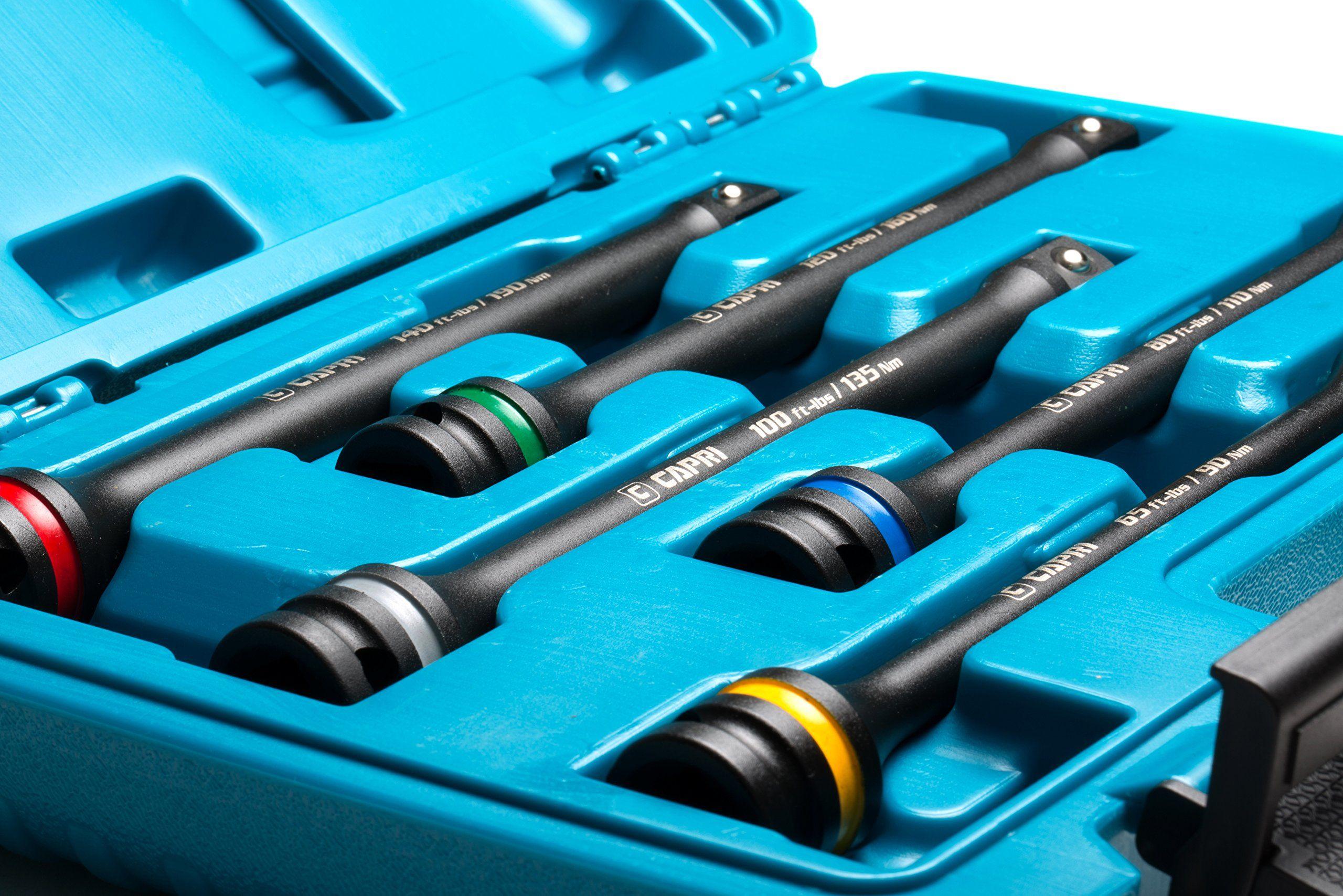 Capri Tools 30083 Torque Limiting Extension Bar Set (5