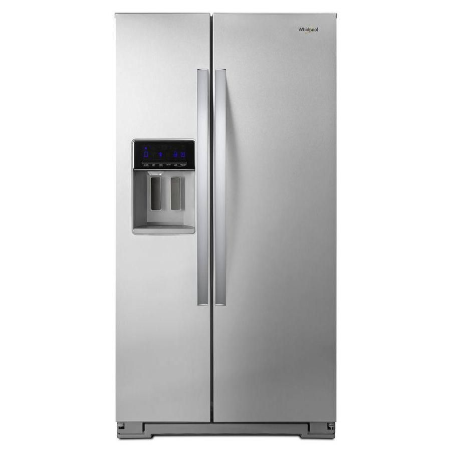 Whirlpool cu ft counterdepth sidebyside refrigerator with