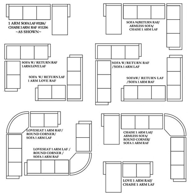 how to measure for a sectional sofa - Google Search  sc 1 st  Pinterest : sectional sizes - Sectionals, Sofas & Couches