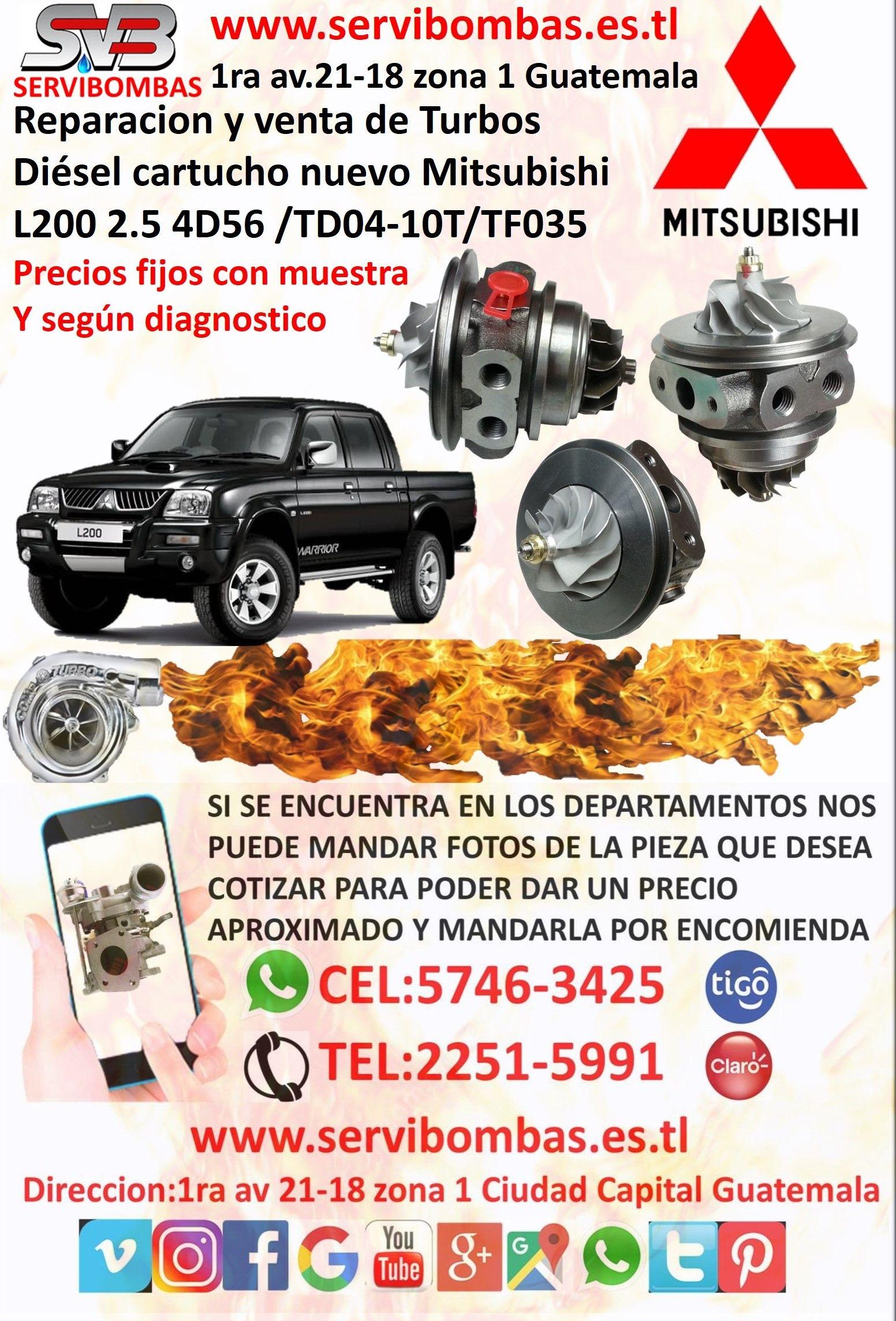 Compro Mitsubishi L200 En Guatemala Servibombas Cartucho Nuevo Turbo Mitsubishi L200 4d56 2 5 Tf035