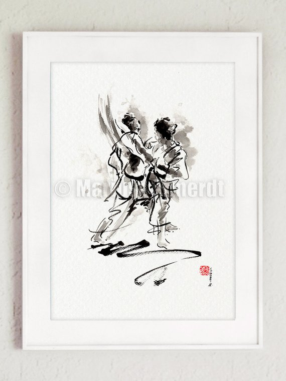 Karate Poster Kumite Full Contact Japanese Martial Art
