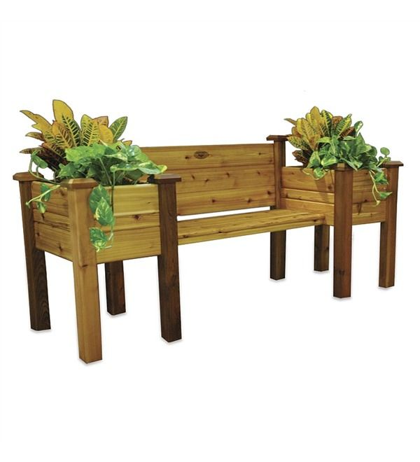 Main Image For Cedar Planter Bench