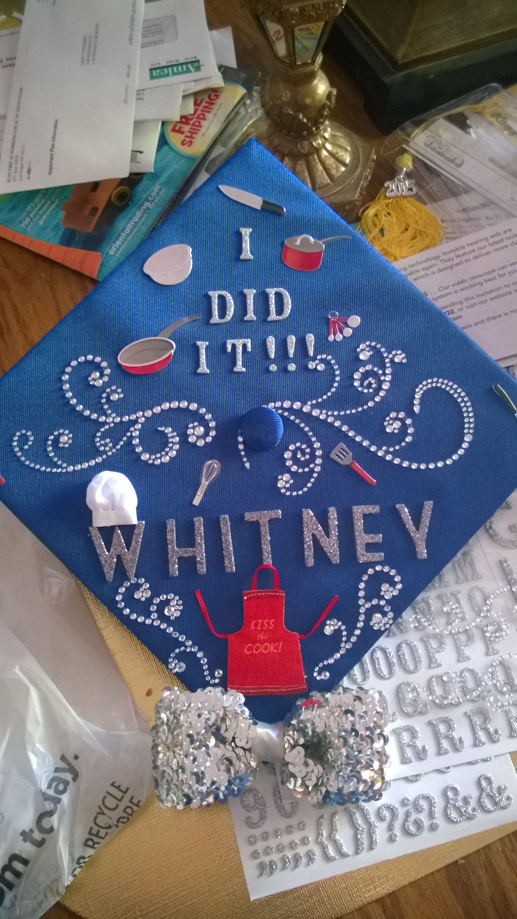 Graduation cap for culinary arts graduate | Graduation cap ...