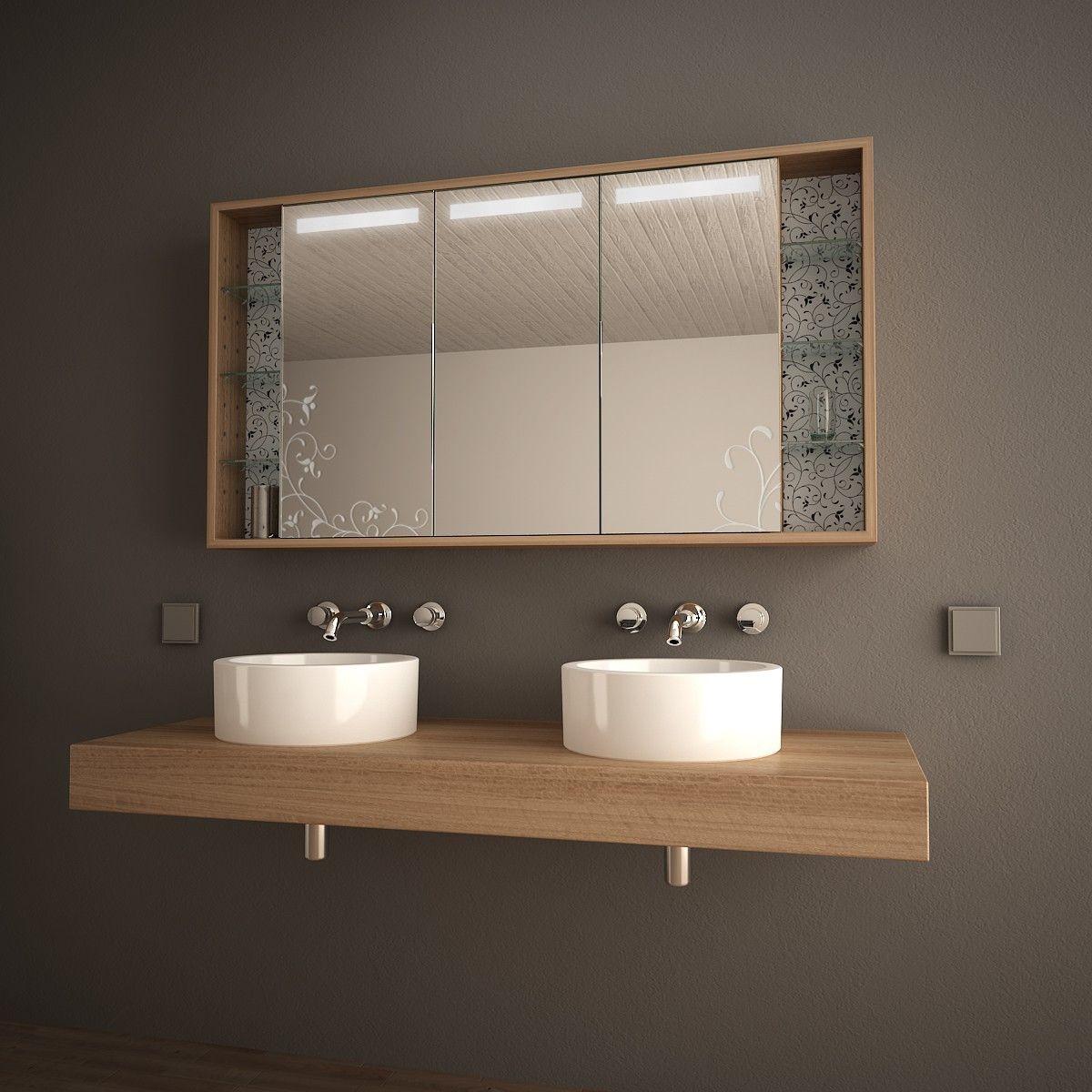 spiegelschrank mit floralem motiv fleur bewerten | unser häuschen, Hause ideen
