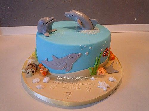 G teau dauphin en 2019 dorty s delf ny cake cake decorating et birthday cake - Requin rigolo ...