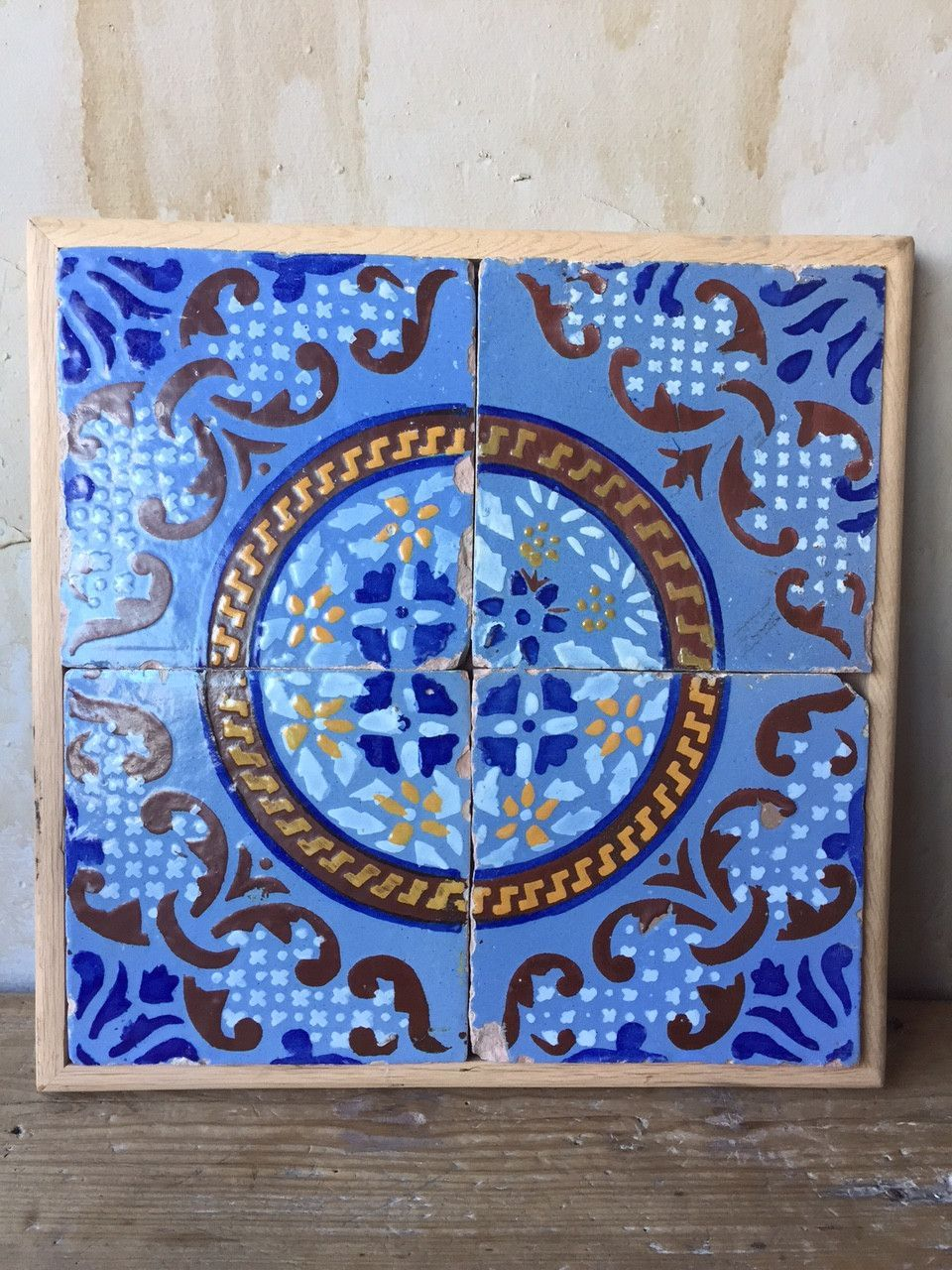 Antique italian tiles 19th century southern italy terra cotta antique italian tiles 19th century dailygadgetfo Choice Image