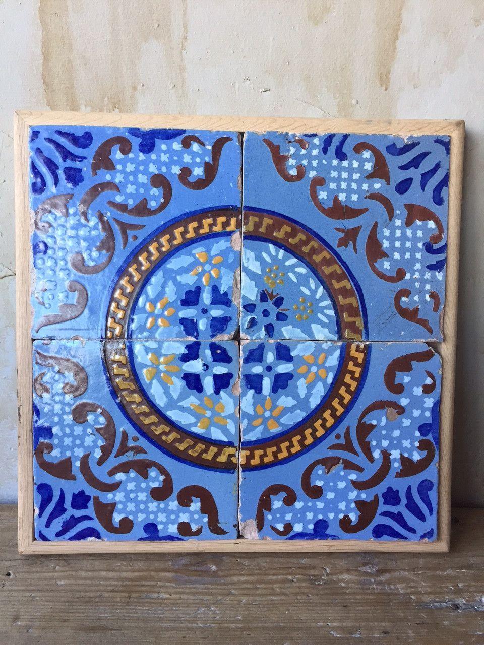 Antique Italian Tiles - 19th Century | Southern italy, Terra cotta ...