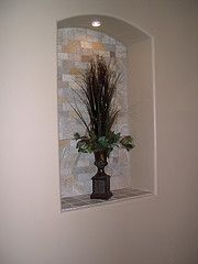 Niche idea home pinterest left over kitchen back - Decorative wall niche ideas ...