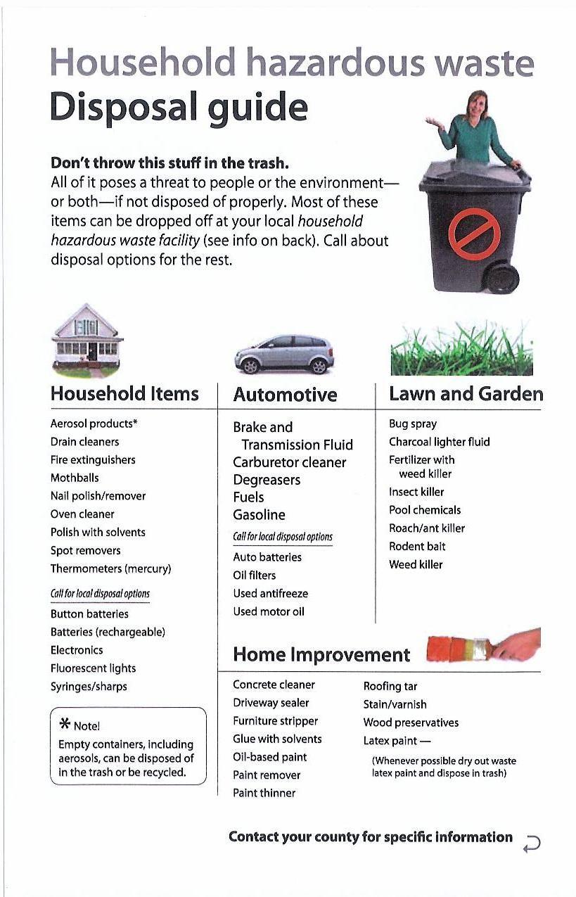 Anoka County Household Hazardous Waste Facility What can