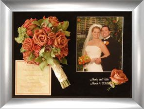 Freeze Dry Wedding Bouquet With Invitation And Photo Preservation Preserve Flowers
