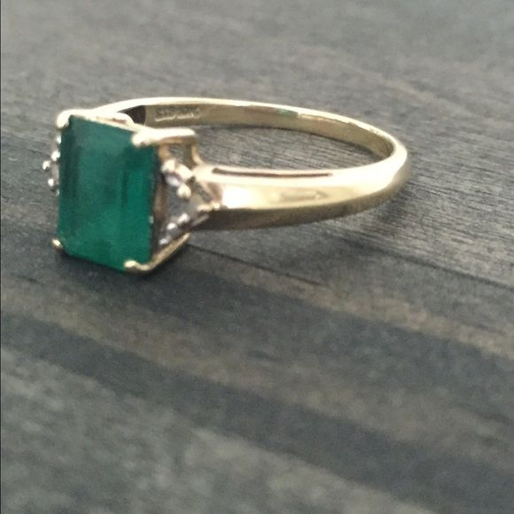 10k Emerald Ring Emerald Ring Emerald Jewelry Jewelry