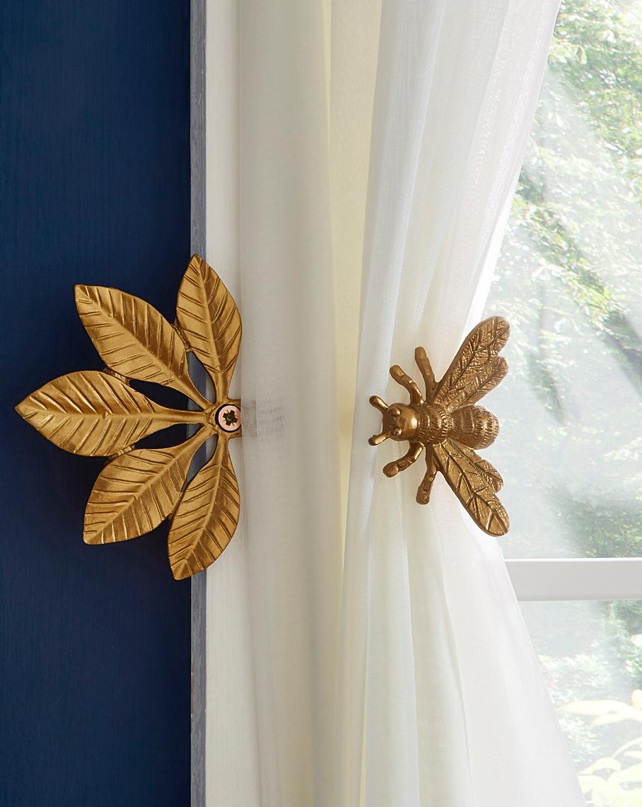 Gold Bee Tieback And Hook In 2020 Unique Curtains Bee Gold