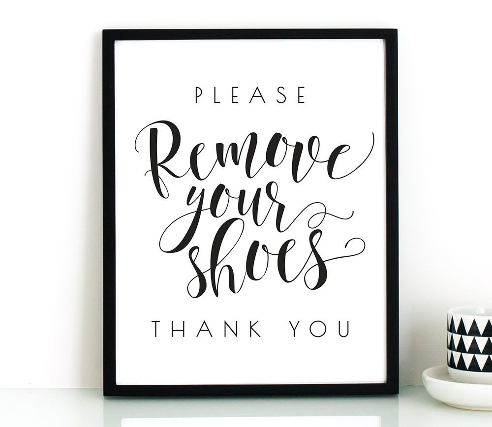 Hilaire image in please remove your shoes sign printable free