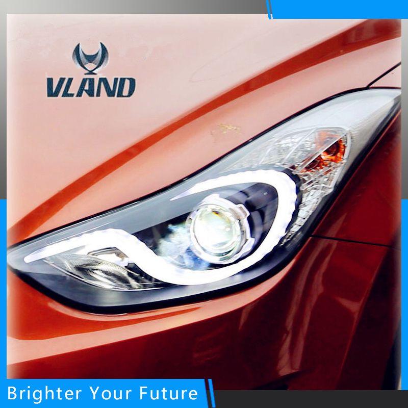 H7 Led Drl Projector Headlights Head Lamps Black For 2011 2013 Hyundai Elantra Left Right Headlight Headlamp Hyundai Elantra Elantra Automotive Accessories