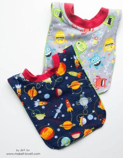 Baby-Lätzchen | Idee | Pinterest | Gratis schnittmuster, Lätzchen ...