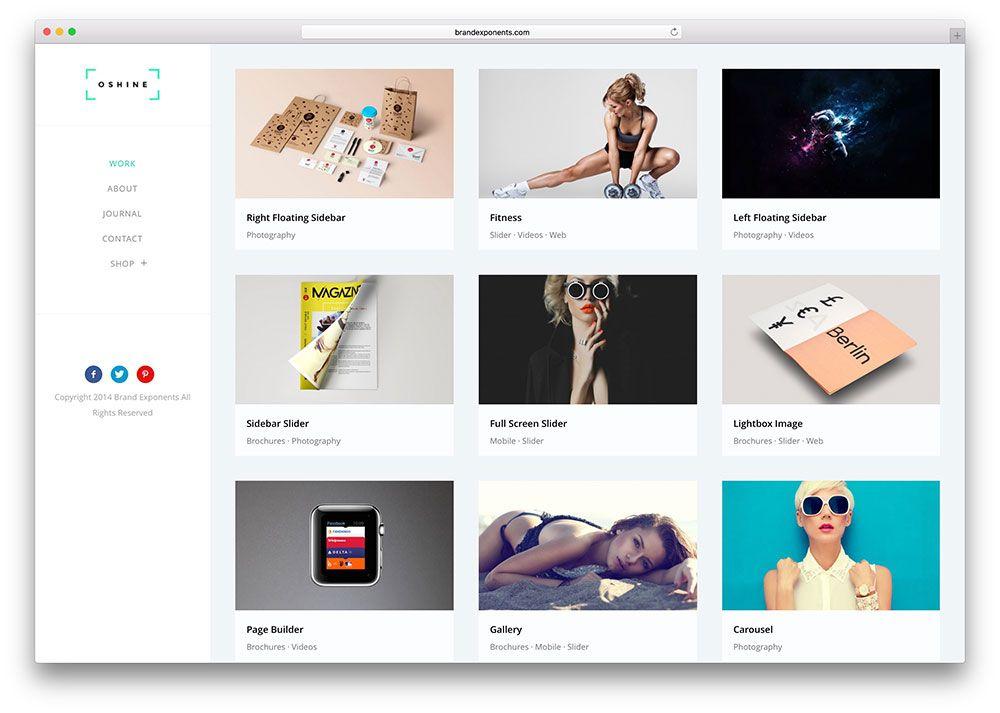 20 Masonry Grid Style WordPress Themes 2016 - Colorlib - wordpress resume themes
