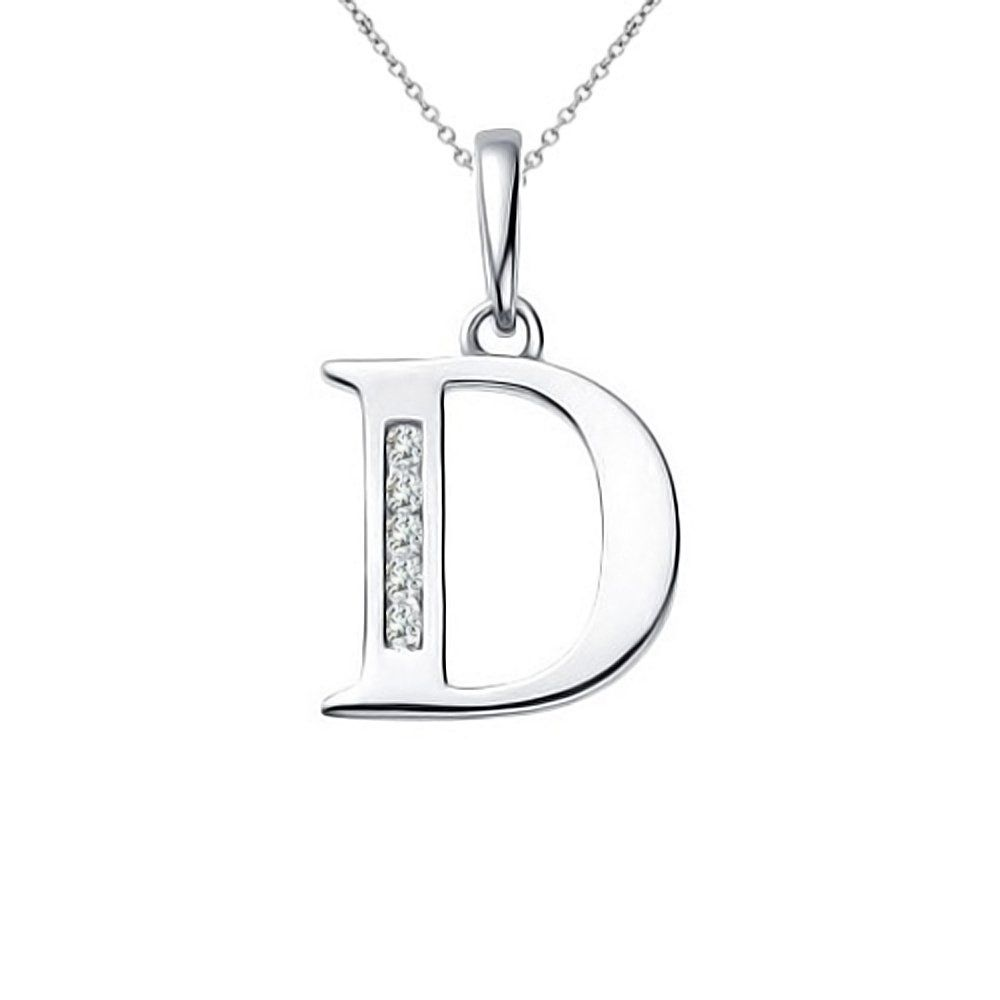 carat diamond alphabet letter dâuac initial solitaire pendant