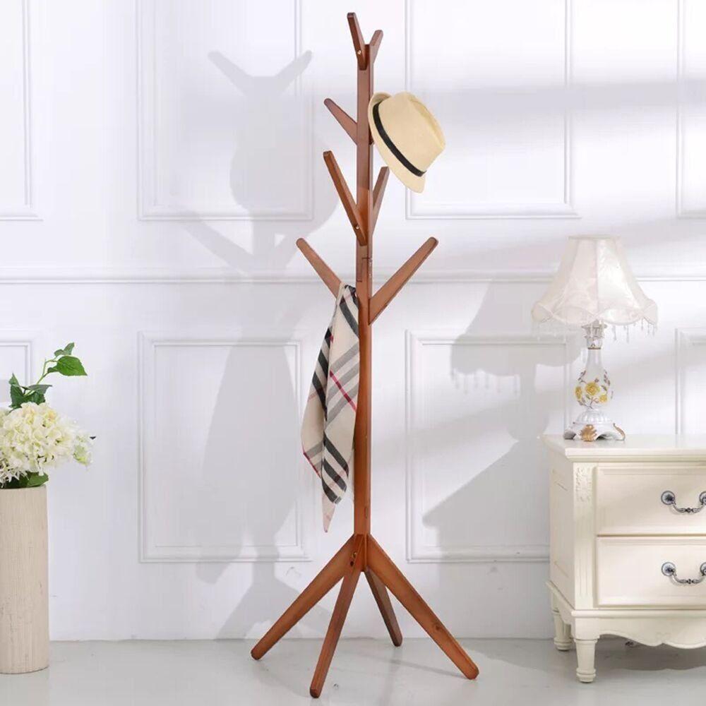 Amazon Com Soges Coat Rack Free Standing Solid Wood Coat Hanger